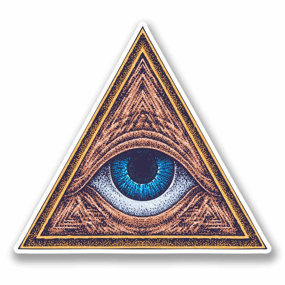2 x All Seeing Eye of Providence Vinyl Sticker #9729