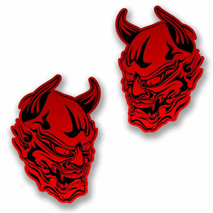 2 x Red Devil Vinyl Sticker #9741