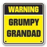 2 x Grumpy Grandad Warning Sign Vinyl Sticker #9743