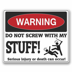 2 x Funny Warning Vinyl Sticker #9754