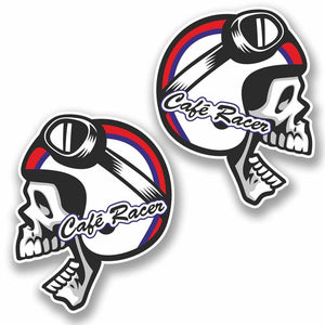 2 x Cafe Racer Vinyl Sticker #9761
