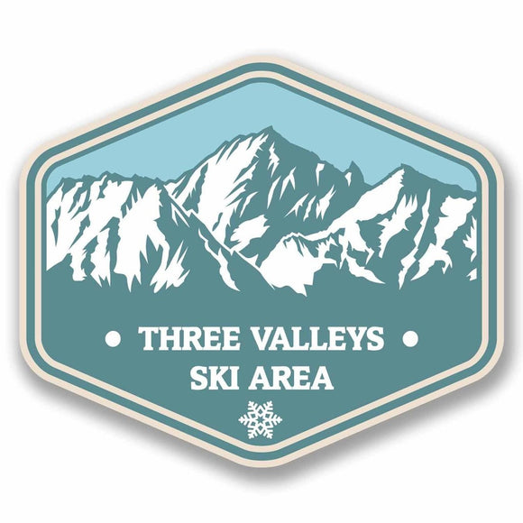 2 x Three Valleys France Vinyl Sticker #9764