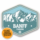 2 x Banff Canada WINDOW CLING STICKER Car Van Campervan Glass #9769