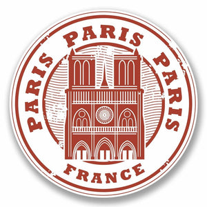 2 x Paris France Vinyl Sticker #9786