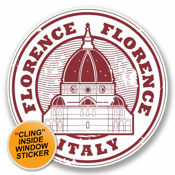 2 x Florence Italy WINDOW CLING STICKER Car Van Campervan Glass #9788