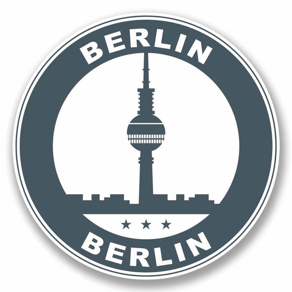 2 x Berlin Germany Vinyl Sticker #9800