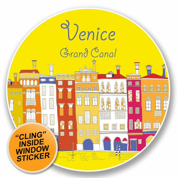 2 x Venice Italy WINDOW CLING STICKER Car Van Campervan Glass #9808