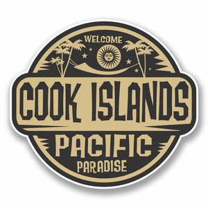 2 x Cook Islands Sticker #9826