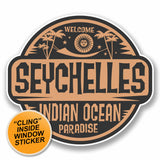 2 x Seychelles WINDOW CLING STICKER Car Van Campervan Glass #9834
