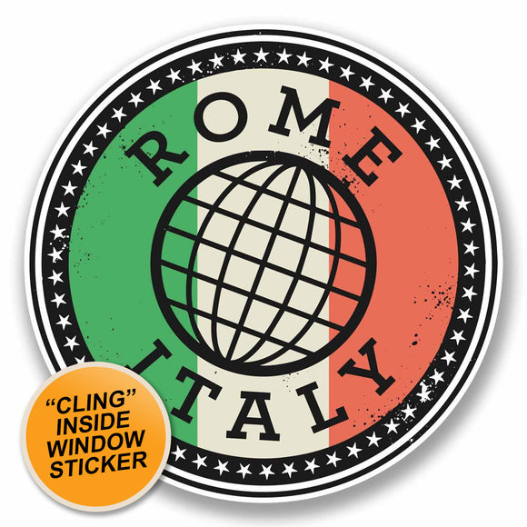 2 x Rome Italy Italia WINDOW CLING STICKER Car Van Campervan Glass #9842