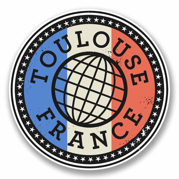 2 x Toulouse France Vinyl Sticker #9847