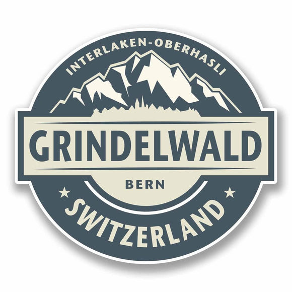 2 x Grindelwald Switzerland Vinyl Sticker #9861