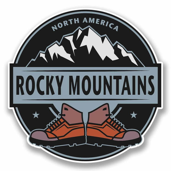 2 x Rocky Mountains Vinyl Sticker #9864