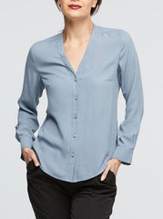 Windsor Blouse - Duck Egg Blue