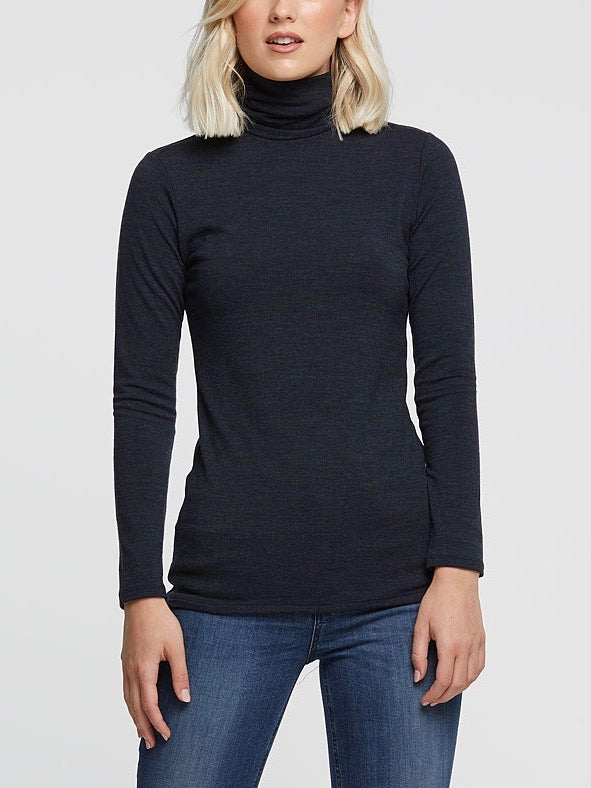 Untouched World Machine Washable Merino - Roll Neck (Ink) - Issue Clothing