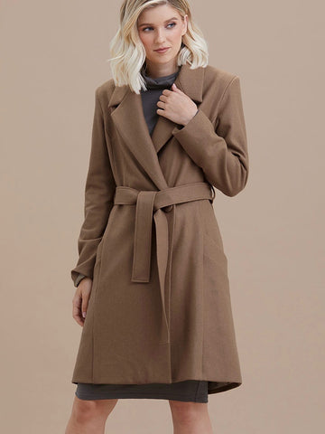 Essential Winter Coat in Pecan