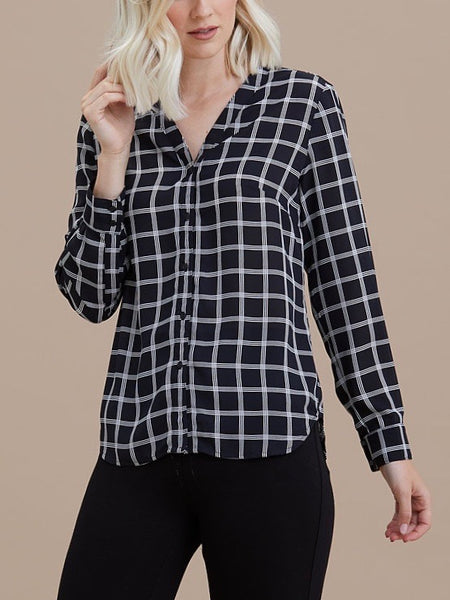 Black & White Windsor Blouse - Issue Clothing