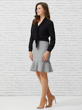 Flounced Dove Pencil Skirt - Issue Clothing