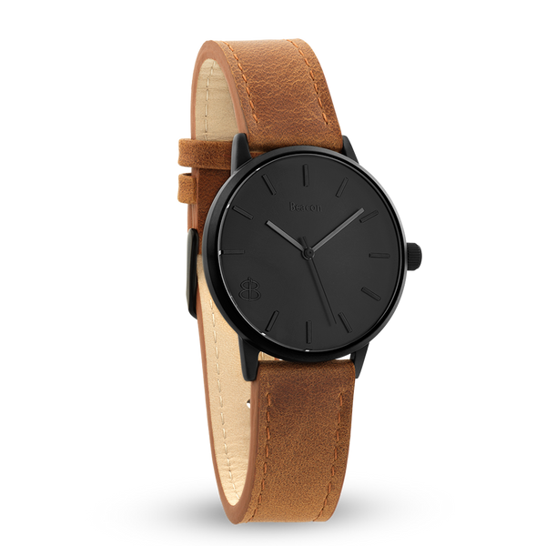 The Beacon | Brown & Matte Black