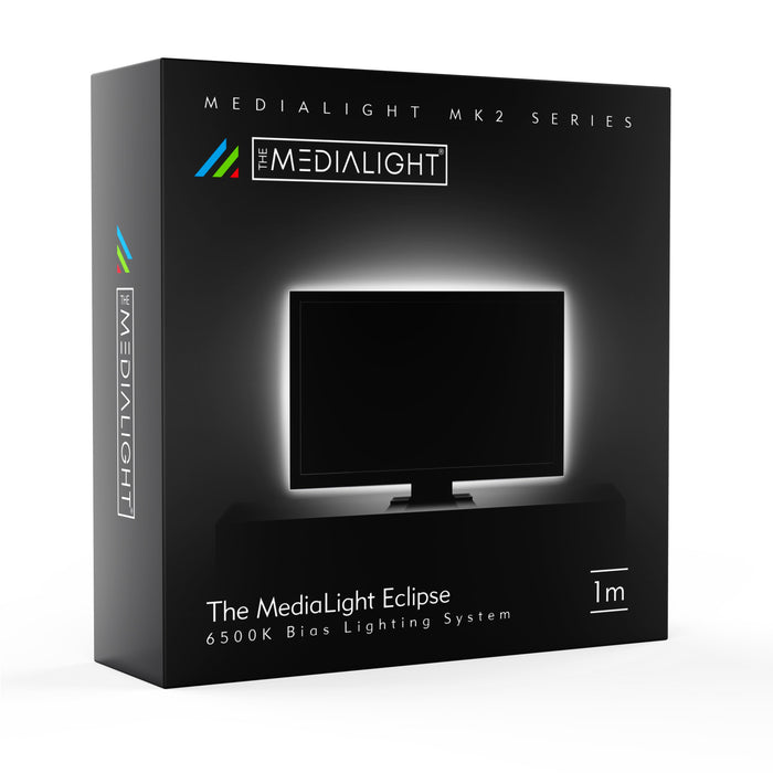 MediaLight Mk2 Eclipse 1 Meter (For Computer Displays) - Accurate Bias Lights by MediaLight Bias Lighting