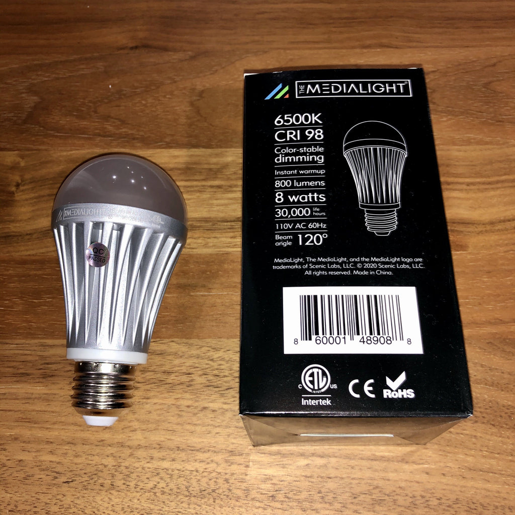 MediaLight Mk2 Dimmable A19 Bulb BiasLighting.com