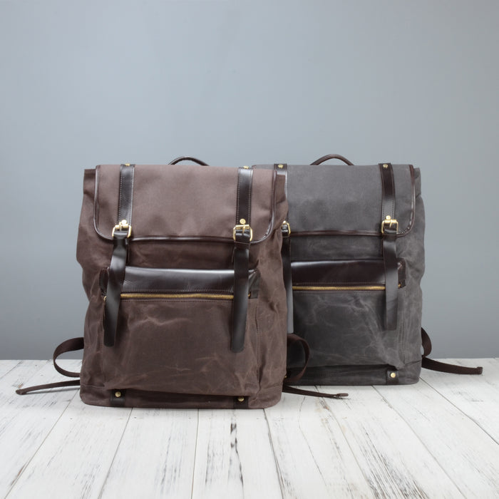 36a6078019 Extra Large Waxed Canvas Backpack
