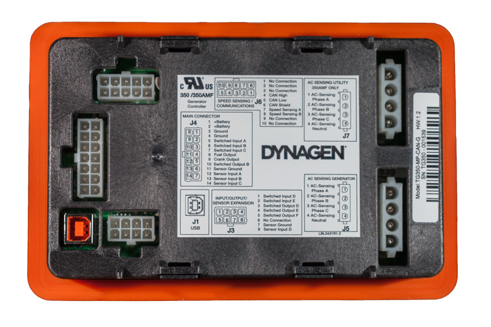 Rear View of the DynaGen TG410 Generator Controller