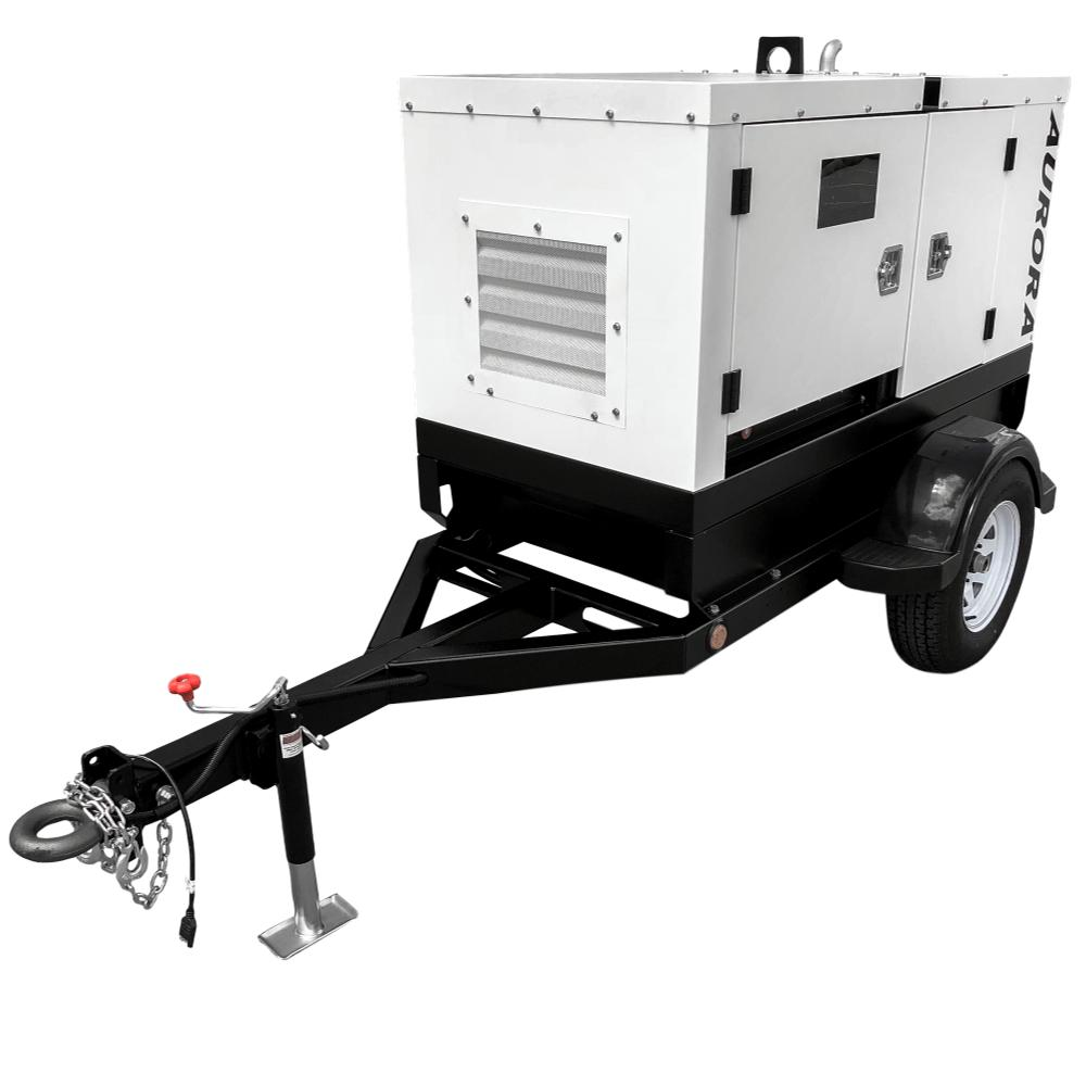 20 Kw Diesel Generator New Perkins Engine Demo Unit 10 Hours 50 Amp Single Phase 120 240 V Standby With Circuit Towable Generators Aurora Mounted On A Trailer