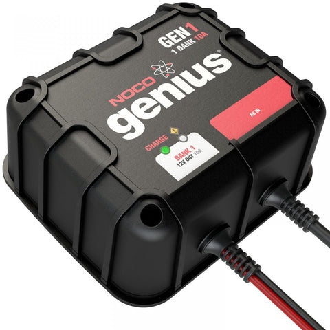 1-Bank 10A On-Board Battery Charger