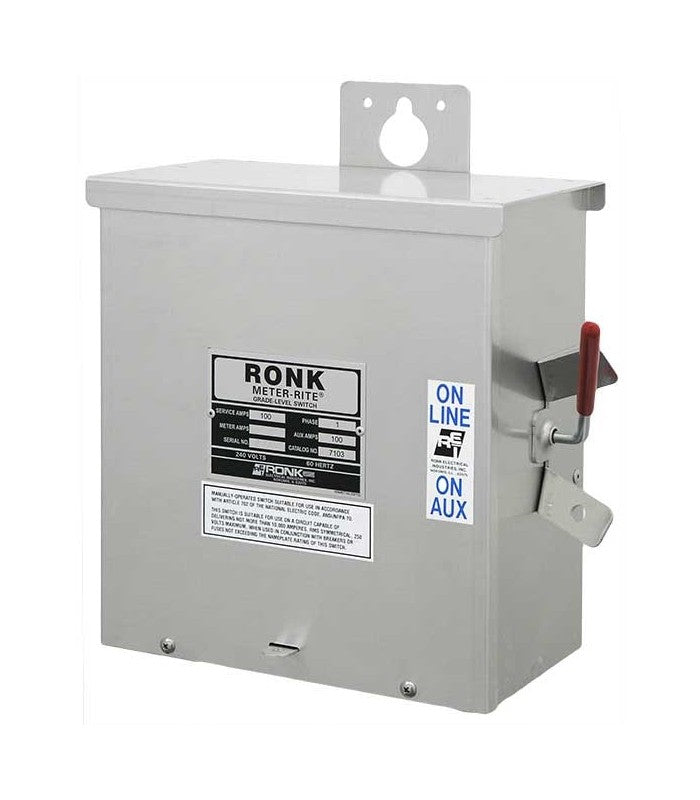 100 Amp | Manual Transfer Switch | Double-Throw | Single Phase