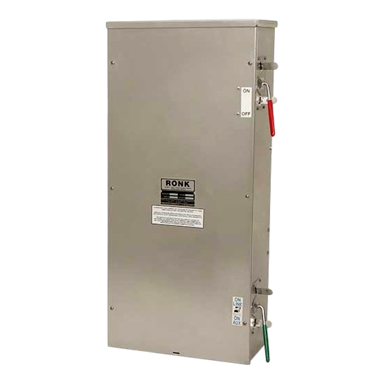 400 Amp | Manual Transfer Switch | Plus Fused Disconnect | SE Rated