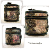 Romantic Floral Decoupage Wood Box various angles