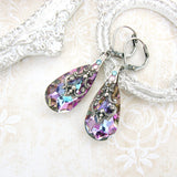 Swarovski Crystal Multicolored Teardrop Earrings