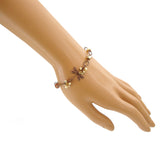 Copper Dragonfly Bracelet with Gold Swarovski Crystals mannequin view