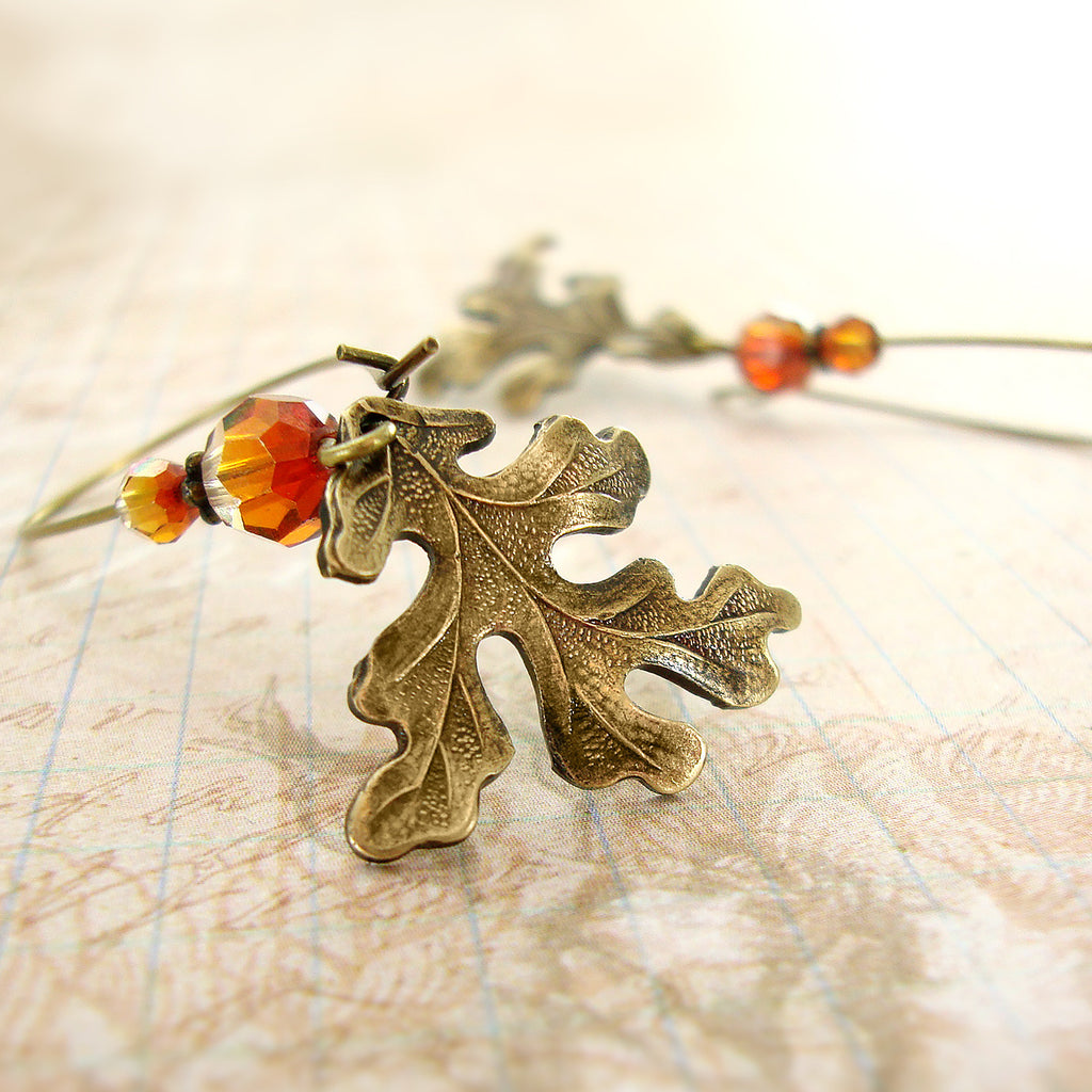 Mountain Oak Leaf Earrings