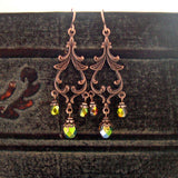 Woodland Copper Chandelier Earrings view 2