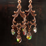 Woodland Copper Chandelier Earrings view 3