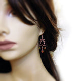Woodland Copper Chandelier Earrings mannequin view