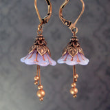 Lavender Faerie Flower Earrings