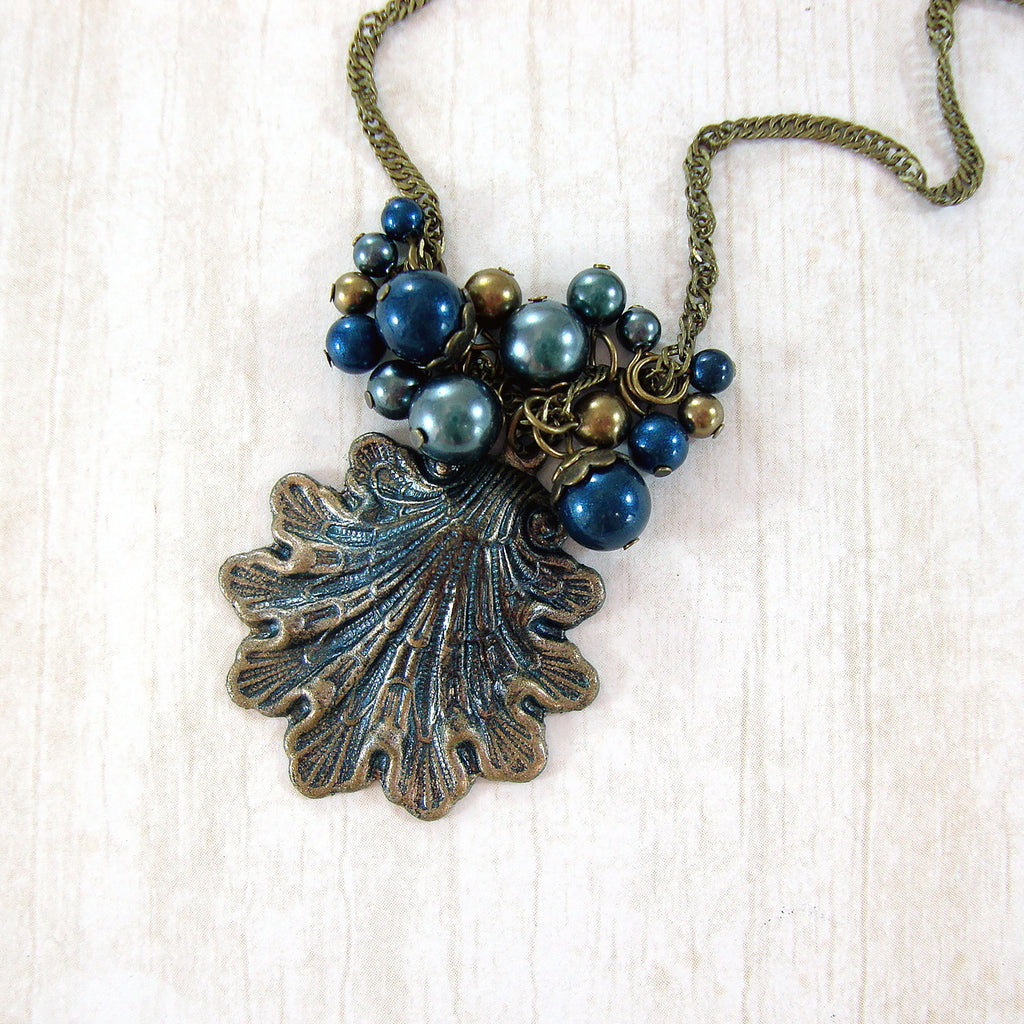 Victorian Mermaid Seashell Necklace