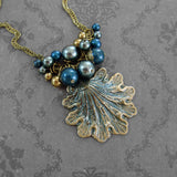 Victorian Mermaid Seashell Necklace view 3