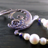 Mythical Sea Creature Bracelet with Swarovski Pearls view 2