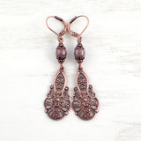 Lacy Victorian Filigree Drop Earrings