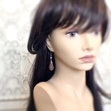Lacy Victorian Filigree Drop Earrings mannequin view