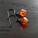 Fallen Phoenix Earrings with Swarovski Crystals view 3