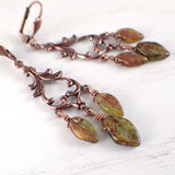 Long Woodland Leaf Earrings view 2