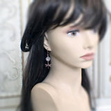 Dusty Denim Blue Nature Earrings mannequin view
