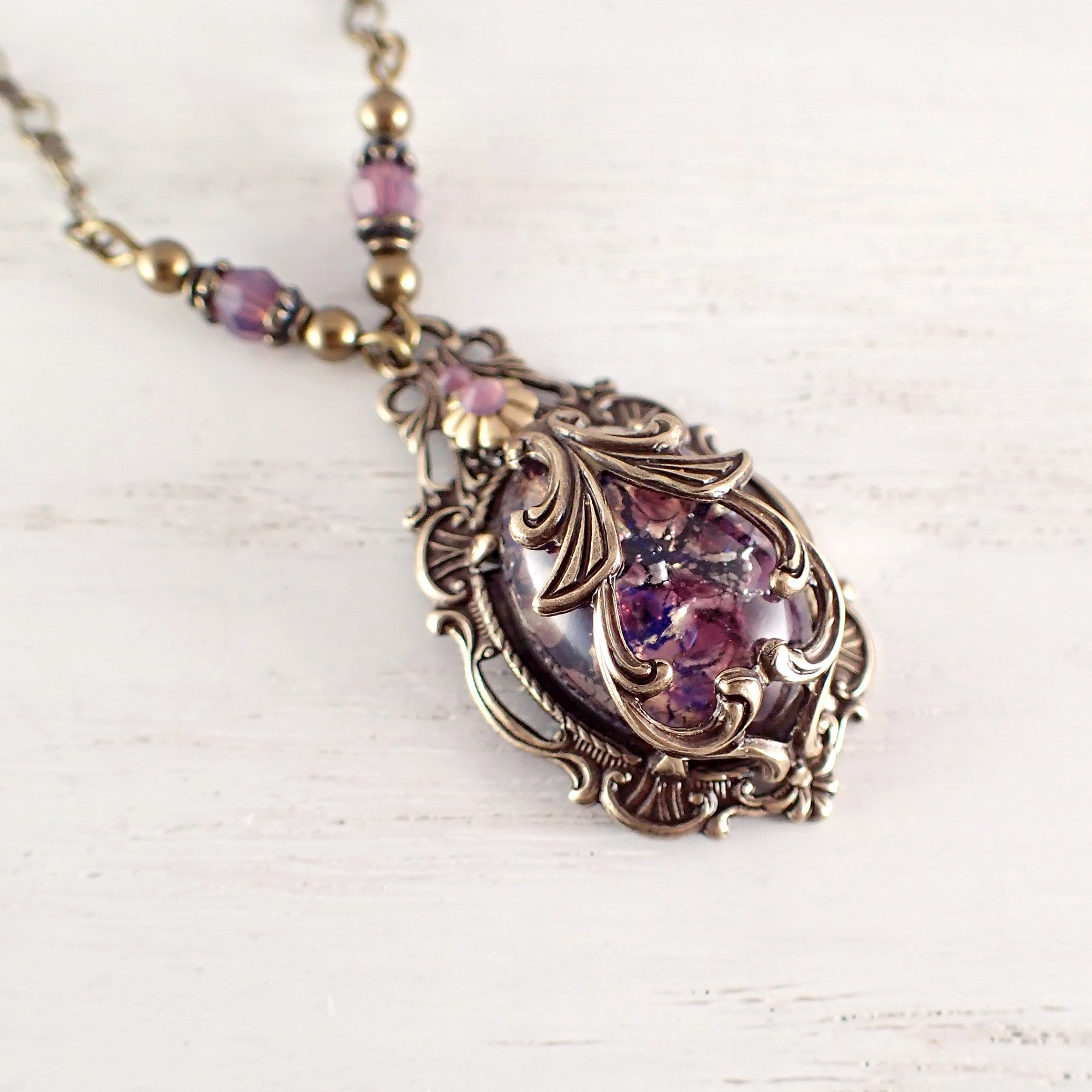 Victorian pendant necklace victorian necklace purple necklace bronze victorian pendant necklace victorian necklace purple necklace bronze jewelry purple pendant necklace purple necklace victorian jewelry aloadofball Image collections
