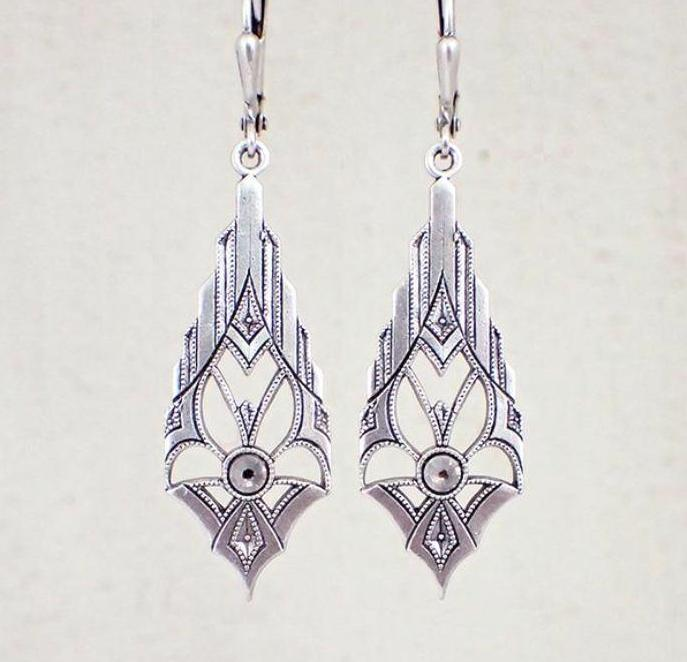 Dramatic Art Deco Earrings
