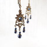 Midnight Blue Chandelier Earrings view 2